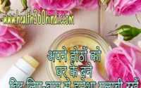 Homemade lip balm in Hindi